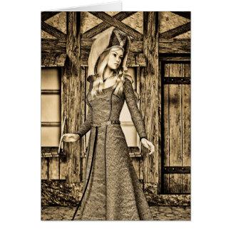 Mittelalterliche Dame Karte