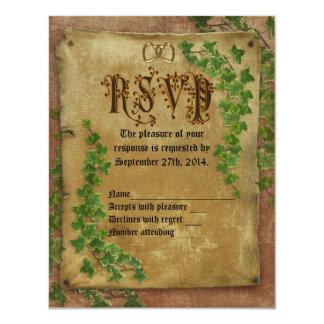 Mittelalterliche Einladung Hochzeit des UAWG 10,8 X 14 Cm Einladungskarte