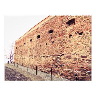 Mittelalterliche Festungs-Backsteinmauer Fotodruck