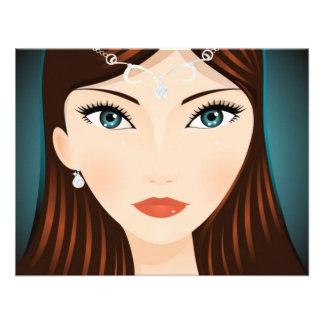 Mittelalterliche Frau Individuelle Ankündigungskarte