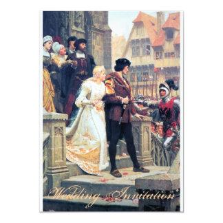 Mittelalterliche Hochzeit Romance 12,7 X 17,8 Cm Einladungskarte