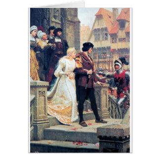 Mittelalterliche Hochzeit Romance Grußkarte