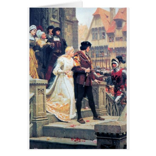 Mittelalterliche Hochzeit Romance Karte