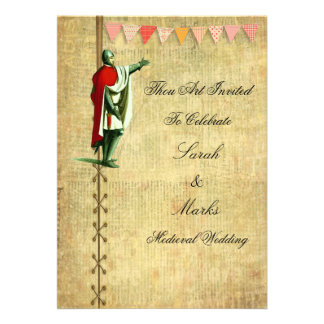 Mittelalterliche Hochzeits-Einladungen