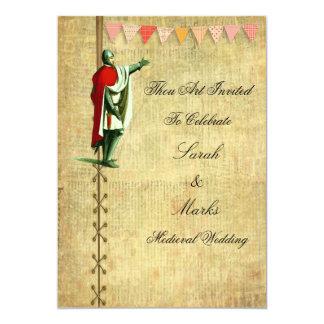 Mittelalterliche Hochzeits-Einladungen 12,7 X 17,8 Cm Einladungskarte