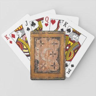 mittelalterliche hölzerne Malereikunst Vintages Spielkarten