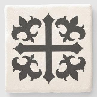 Mittelalterliche Kreuz- und Liliensymbole Steinuntersetzer