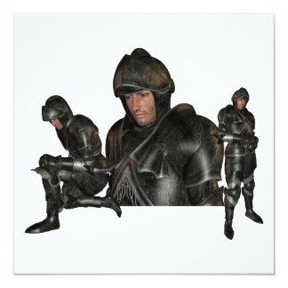 Mittelalterliche Kriegers-Einladungen