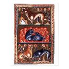 Mittelalterliche Kunst-LöweBestiary Bestiarium Postkarte