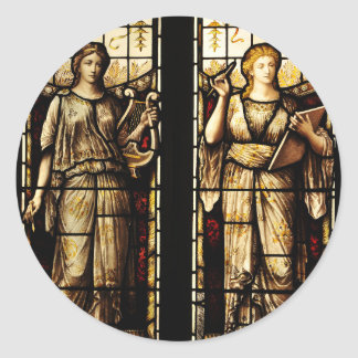 Mittelalterliche Kunst Runder Aufkleber