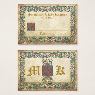 Mittelalterliche Manuskript Goth Visitenkarte