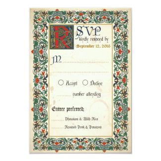 Mittelalterliche Manuskript UAWG Karte 8,9 X 12,7 Cm Einladungskarte