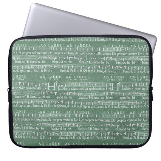 Mittelalterliche Musik-Manuskript-Neopren-Hülse Laptopschutzhülle