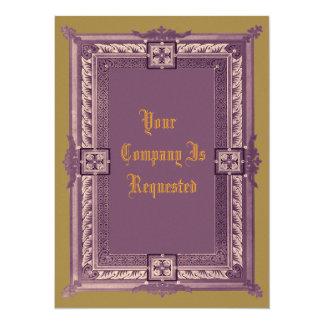 Mittelalterliche Muster Personalisierte Einladungskarten