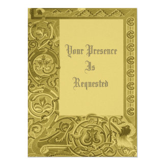 Mittelalterliche Muster 14 X 19,5 Cm Einladungskarte
