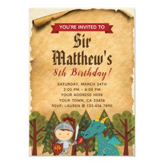 Mittelalterliche Ritter-Einladung Karte