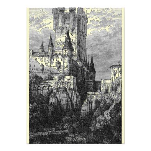 Mittelalterliche Schloss-Einladung