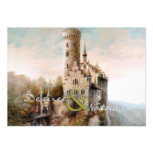 Mittelalterliche Schloss-Hochzeits-Einladung