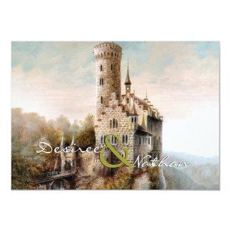 Mittelalterliche Schloss-Hochzeits-Einladung 12,7 X 17,8 Cm Einladungskarte