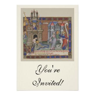 Mittelalterliche Schlösser Individuelle Einladungskarten