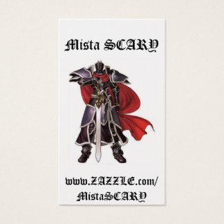 Mittelalterliche schwarzer visitenkarte