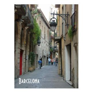 Mittelalterliche Straße Postkarte