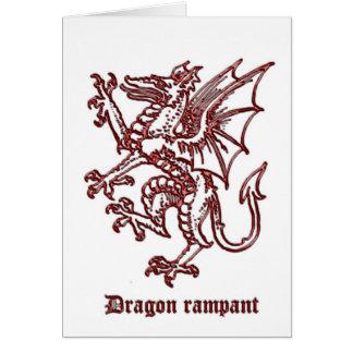 Mittelalterliche Wappenkunde des Drachen Karte