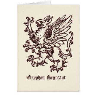Mittelalterliche Wappenkunde Gryphon segreant Karte