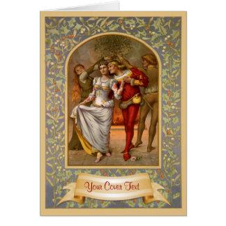 Mittelalterliche Weihnachtsschablone Karte