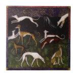 Mittelalterliche Windhund-schöne Kunst Keramikfliesen