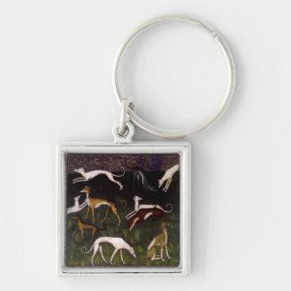 Mittelalterliche Windhund-schöne Kunst Schlüsselanhänger