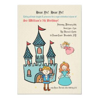 Mittelalterliche Zeit-Geburtstags-Party Einladung