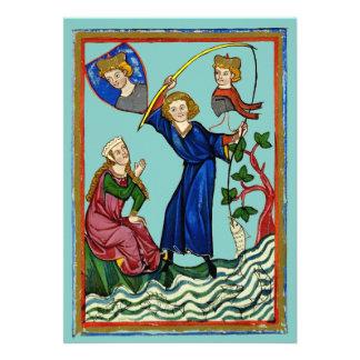 Mittelalterlicher Angelausflug Individuelle Ankündigskarten