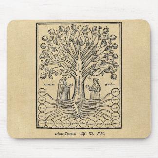 Mittelalterlicher Baum der Wissenschaften Mousepad