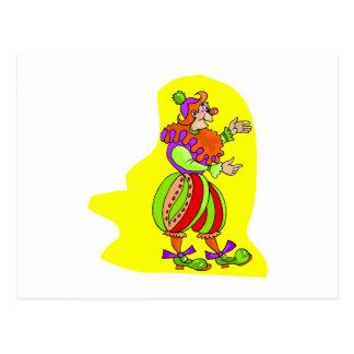 Mittelalterlicher Clown Postkarte