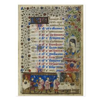 Mittelalterlicher Kalender: Januar Postkarte