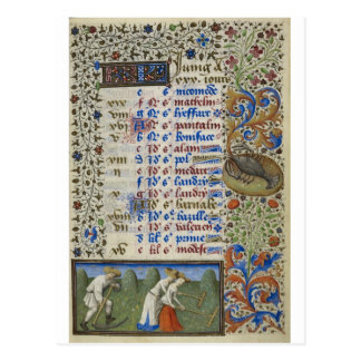 Mittelalterlicher Kalender: Juni Postkarte