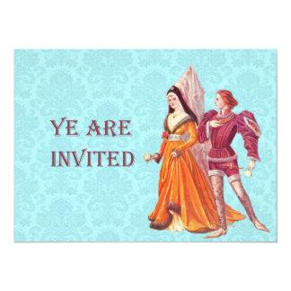 Mittelalterlicher Lord und Dame Individuelle Ankündigung