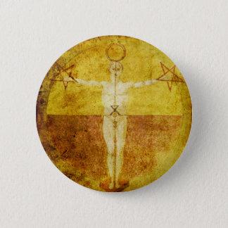 Mittelalterlicher Magik Ikonen-Knopf Runder Button 5,7 Cm