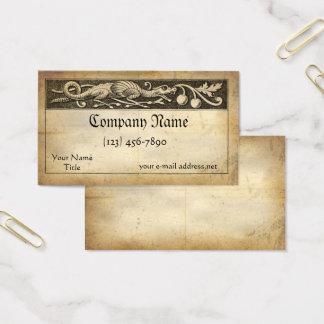 Mittelalterlicher Manuskript-Drache Visitenkarte