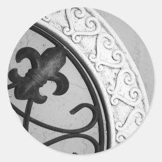 Mittelalterlicher Medaillonaufkleber Runder Aufkleber