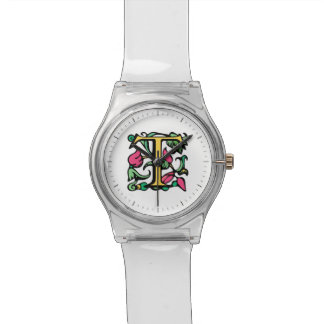 Mittelalterlicher Monogramm-Buchstabe T Uhr