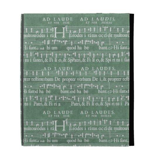 Mittelalterlicher Musik-Manuskript iPad Fall