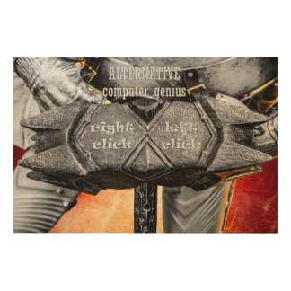 Mittelalterlicher Ritter - alternatives Holzdruck
