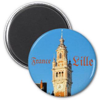 Mittelalterlicher Turm in Lille, Frankreich Kühlschrankmagnete