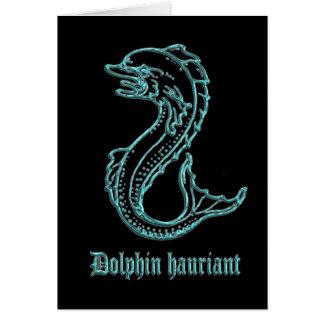 Mittelalterlicher Wappenkunde-Delphin hauriant Karte