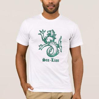 Mittelalterlicher Wappenkunde-Seelöwe T-Shirt