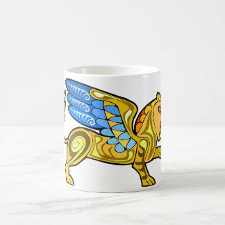Mittelalterlicher Winged Löwe Gryphon Kaffeetasse