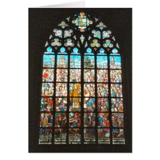 Mittelalterliches Buntglasfenster, Holland Karte