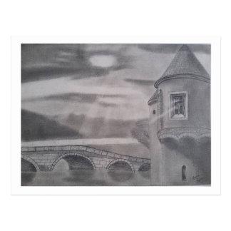 Mittelalterliches Burg Postkarte